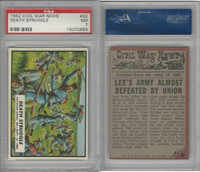 1962 Topps, Civil War News, #32 Death Struggle, Antietam, PSA 7 NM