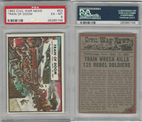 1962 Topps, Civil War News, #53 Train of Doom, Chattanooga, PSA 6 EXMT