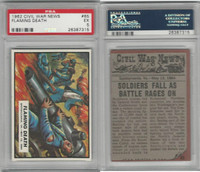 1962 Topps, Civil War News, #65 Flaming Death, Spotsylvania, PSA 5 EX