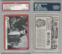 1963 Rosan W528-5, Famous Monsters, #10 The Blood of Dracula, PSA 7 NM