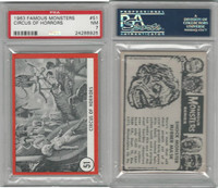 1963 Rosan W528-5, Famous Monsters, #51 Circus of Horrors, PSA 7 NM