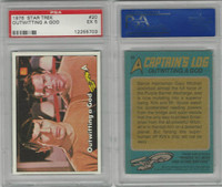 1976 Topps, Star Trek, #20 Outwitting A God, PSA 5 EX