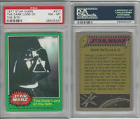 1977 Topps, Star Wars, 4th Series, #217 The Dark Lord of Sith, PSA 8 NMMT