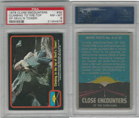 1978 Topps, Close Encounters, #35 Climbing Devil's Tower, PSA 8 NMMT