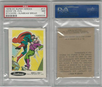 1978 Sunbeam Bread, DC Super Heroes, #17 Good vs Evil Superman, PSA 7 NM