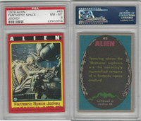 1979 Topps, Alien, #43 Fantastic Space Jockey, PSA 8 NMMT