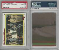 1979 Topps, Star Trek, #39 The Senior Officers, PSA 10 Gem