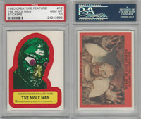 1980 Universal, Creature Feature Stickers, #12 The Mole Man, PSA 10 Gem