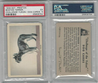 F279-5 Quaker, Challenge Yukon, Dog Cards, 1950, Boston Terrier, PSA 5 EX