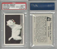 F279-5 Quaker, Challenge Yukon, Dog Cards, 1950, W Highland Terrier, PSA 9 Mint