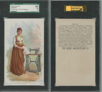 H639 Singer Sewing, Costumes of all Nations, 1892, Bosnia, Austria, SGC 60 EX