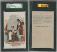 H639 Singer Sewing, Costumes of all Nations, 1892, Spain Corunna, SGC 40 VG