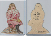 K33 Lion Coffee, Die Cut Design, Doll House, 1890, Hall, #12 Girl Sitting