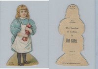 K33 Lion Coffee, Die Cut Design, Doll House, 1890, Laundry, #13 Girl Towel