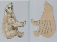 Copy of Victorian Card, 1890's, Lion Coffee, Polar Bear Cut Out
