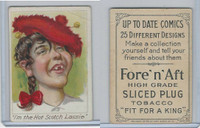 T114 Fore'n'Aft, Up To Date Comics, 1910, I'm The Hot Scotch Lassie