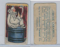 E43 American Caramel, Circus, 1911, Clown Sitting on Barrel