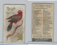 E30 Philadelphia, Zoo Cards, Song Birds, 1907, Amandava