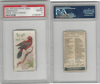 E30 Philadelphia, Zoo Cards, Song Birds, 1907, Amandava, PSA 2 Good