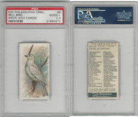E30 Philadelphia, Zoo Cards, Song Birds, 1907, Bell Bird, PSA 2.5 Good+