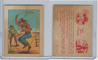 F278-12 Post Cereal, Hopalong Cassidy Wild West, 1951, #18 Fancy Rope (B)