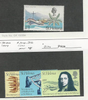 St. Helena, Postage Stamp, #223 Hinged, 314-316 Mint NH, 1968-77 Halley