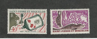 St. Pierre & Miquelon, Postage Stamp, #375, 389 Mint Hinged, 1967 Seal