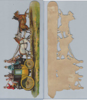 Victorian Diecuts, 1890's, Horses, Stage Coach (10X3.5 Inch) (P20)
