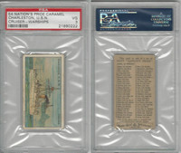 E4 Nation's Pride Caramel, Warships, 1930's, Charleston USN Cruiser, PSA 3 VG