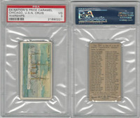 E4 Nation's Pride Caramel, Warships, 1930's, Chicago USN Cruiser, PSA 3 VG