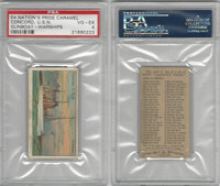 E4 Nation's Pride Caramel, Warships, 1930's, Concord USN Gunboat, PSA 4 VGEX