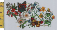 Victorian Card, 1890's, Animals Diecut, Butterfly, Bee,  Flowers (A2)