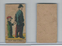 W539 Strip Card, Charlie Chaplin, 1920's, Out For A Stroll