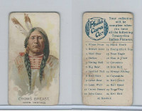 E46 Philadelphia Caramel, Indian Pictures, 1911, Crows Breast, Gros Ventres