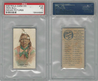 E46 Philadelphia Caramel, Indian Pictures, 1911, Iron Bull, Crow, PSA 1