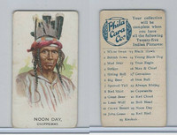 E46 Philadelphia Caramel, Indian Pictures, 1911, Noon Day, Chippeway