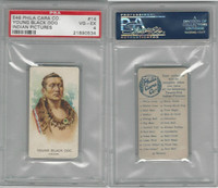 E46 Philadelphia Caramel, Indian Pictures, 1911, Young Black Dog, PSA 4 VGEX