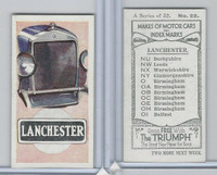 A0-0 Amalgamated, Makes of Motor Cars, 1923, #22 Lanchester