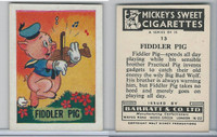 B0-0a Barratt, Walt Disney Characters, 1955, #13 Fiddler Pig