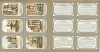 Liebig, Set 6 Cards, F1367, 1938, Fountains Of Rome, Italy