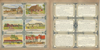 Liebig, Set 6 Cards, F1422, 1940, Belgium Farm Houses, Animals