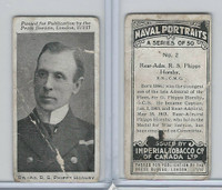 C23 Imperial Tobacco, Naval Portraits, 1915, #2 RS Phipps Hornby