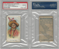 E49 American Caramel, Wild West, 1920's, Chief Lone Wolf, PSA 2 Good