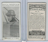 C23 Imperial Tobacco, Naval Portraits, 1915, #26 SV Sippe, Avaitor