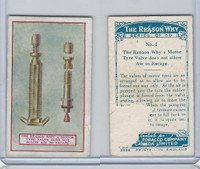 C32 Imperial Tobacco, The Reason Why, 1924, #1 Tyre Valve