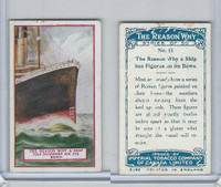 C32 Imperial Tobacco, The Reason Why, 1924, #11 Ship Figures on Bow