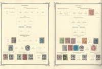 Victoria Stamp Collection 1860 to 1912 on 14 Scott Specialty Pages