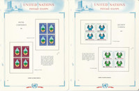 United Nations Stamp Collection 1977-80 on 22 White Ace Pages, Geneva
