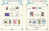 United Nations Stamp Collection 1981-84 on 15 White Ace Pages, Geneva