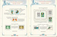 United Nations Stamp Collection 1979-80 on 11 White Ace Pages, Vienna